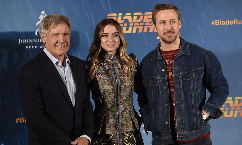 Ana de Armas consigue lo imposible: eclipsa a Ryan Gosling y Harrison Ford en su visita a Madrid