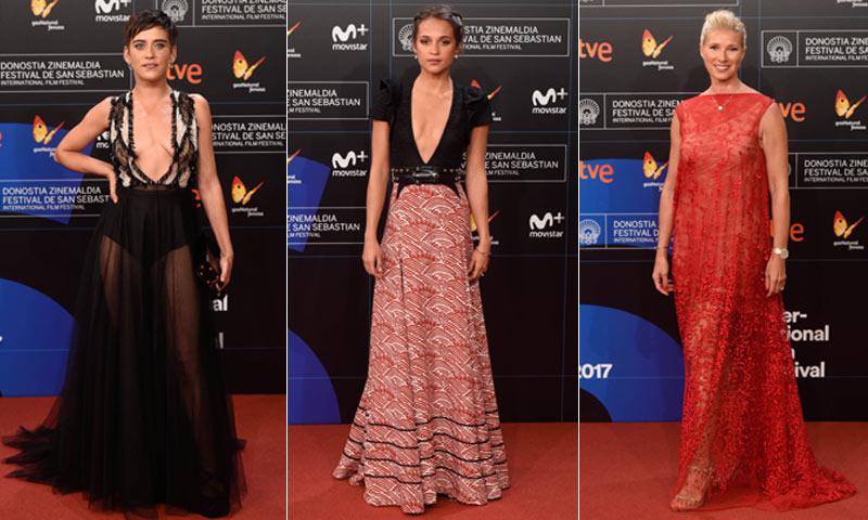 La alfombra roja del Festival de Cine de San Sebastián brilla con estrellas internacionales y nacionales