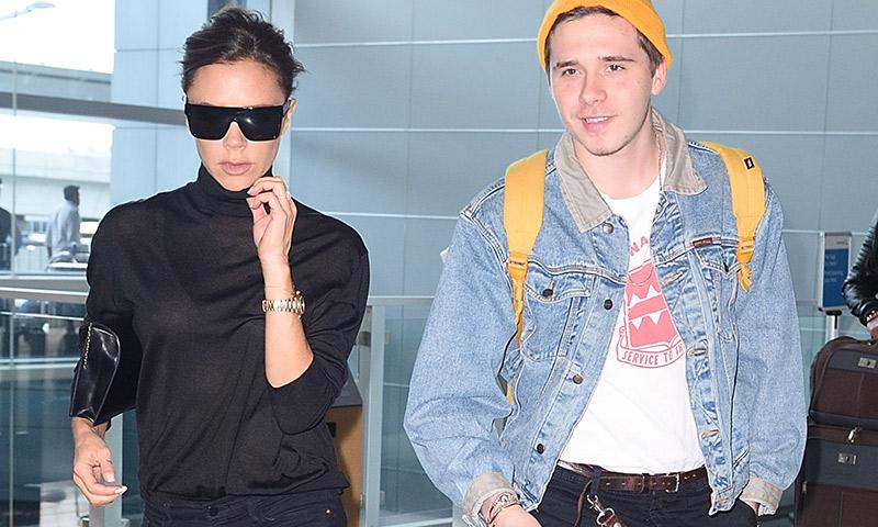 Victoria Beckham y su hijo Brooklyn disfrutan de Nueva York