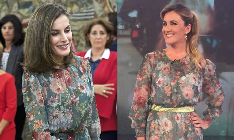 Doña Letizia y Carlota Corredera, los detalles de una coincidencia muy 'real'