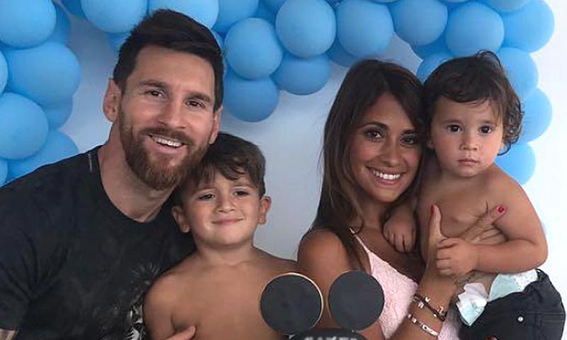 El divertido cumple de Thiago, hijo de Leo Messi y Antonella Roccuzzo, entre jugadores del Barça