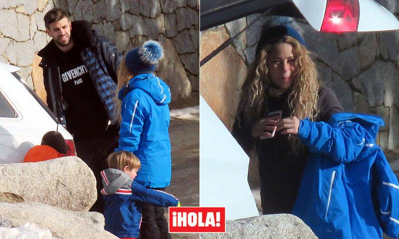 EXCLUSIVA: Shakira disfruta de una escapada en la nieve con Piqué y sus hijos