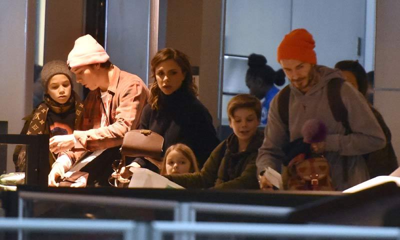 Los Beckham, juntos de nuevo: Brooklyn vuelve a casa por Navidad
