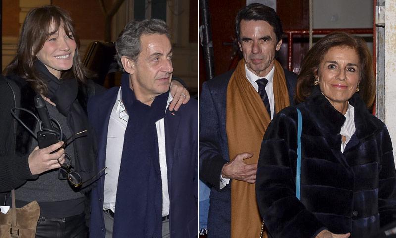 Nicolas Sarkozy, José María Aznar, Ana Botella... El concierto de Carla Bruni, una cumbre de políticos
