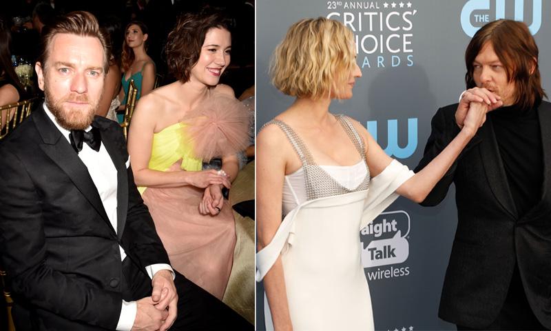 Nuevas parejas a escena: Ewan McGregor sella su amor con un beso y Diane Kruger por fin confirma su romance