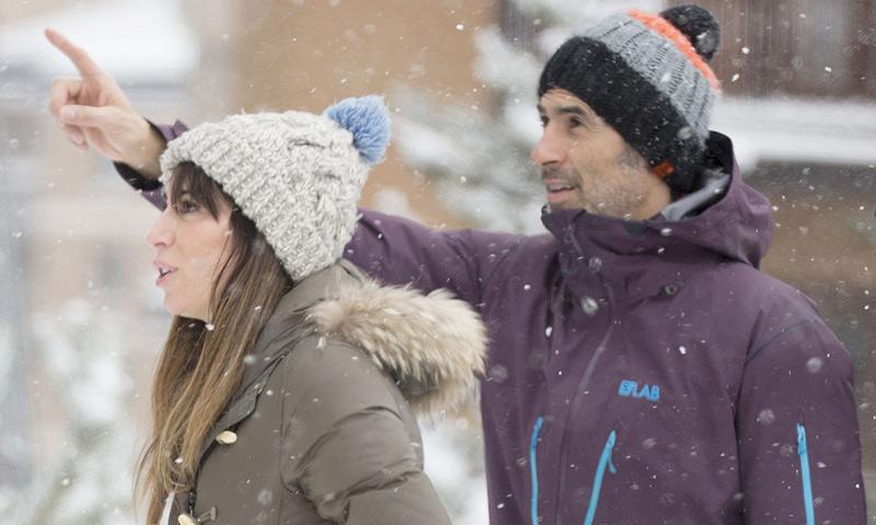 Jorge Fernández, de escapada en la nieve con su novia