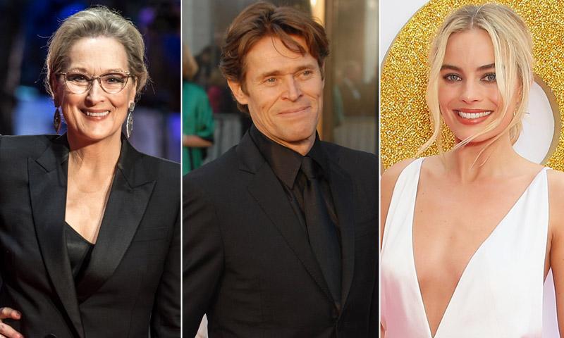 Las reacciones de Meryl Streep, Margot Robbie, Willen Dafoe... a sus nominaciones a los Oscar