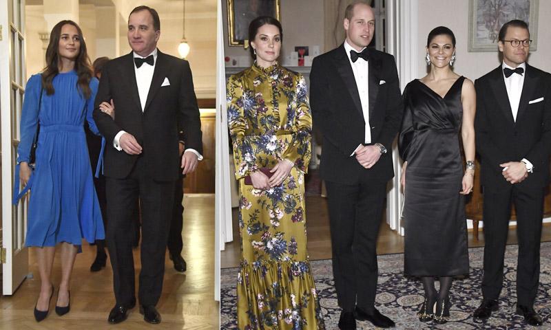 Alicia Vikander y sus dudas de protocolo en su cena con los duques de Cambridge: 'Me contuve'