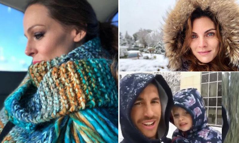 Así están viviendo las 'celebrities' el temporal de frío y nieve