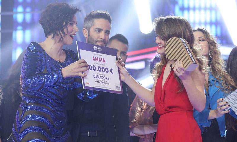 'Amaia de España', ganadora de OT tras una final muy reñida