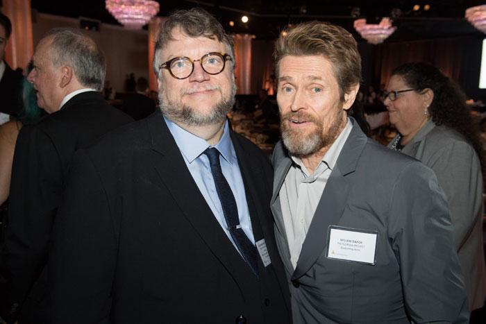 Guillermo del Toro y Willem Dafoe