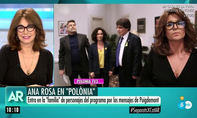 Ana Rosa Quintana cara a cara con su doble, ¿cómo ha reaccionado a esta imitación?