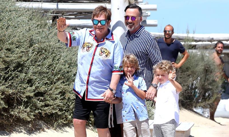 ¡Absolutamente adorable! El hijo de Elton John sube al escenario con su padre