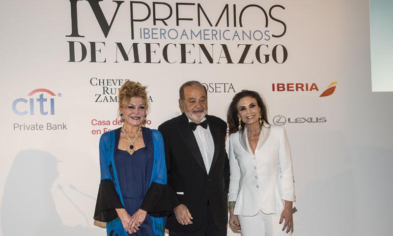 La baronesa Thyssen y Carlos Slim, premiados por su promoción y difusión del patrimonio artístico