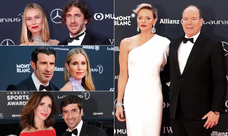 Alberto y Charlene de Mónaco, con la 'realeza' del deporte en los Premios Laureus