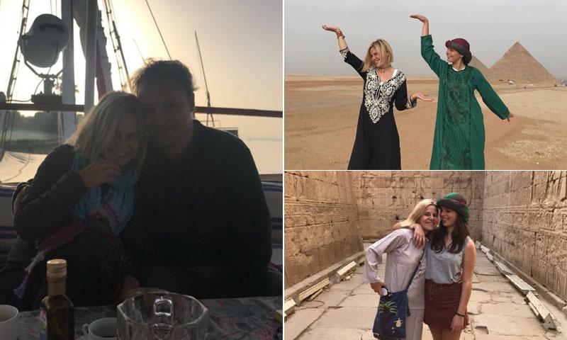 Eugenia Martínez de Irujo y Narcís Rebollo disfrutan de Egipto con Cayetana