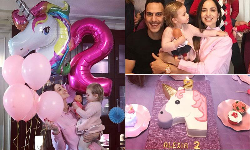 Globos, 'cupcakes' y ¡hasta un unicornio! en el cumpleaños de Alexia, hija de Lorena Van Heerde