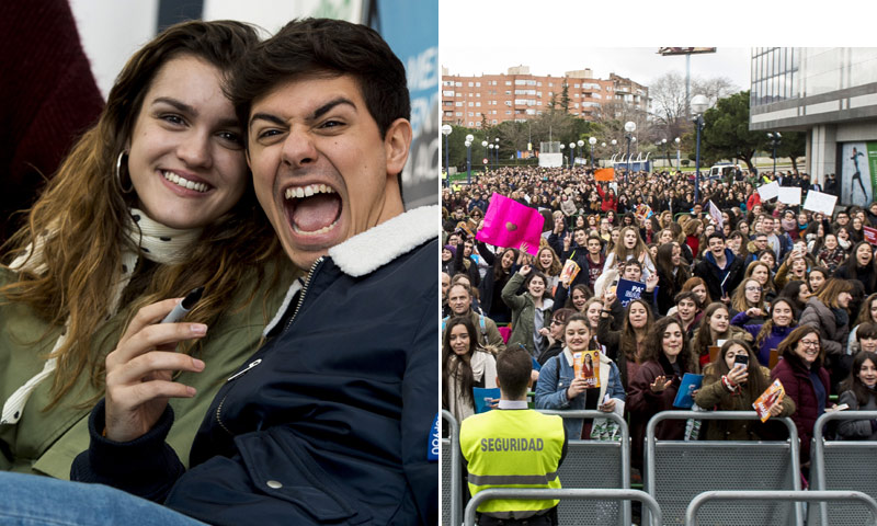 Amaia y Alfred desatan la locura en su firma de discos en Madrid