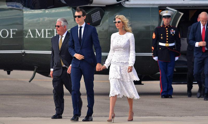 El susto de Ivanka Trump y su marido en un helicóptero