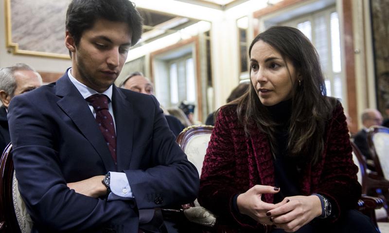 Alejandra Romero, la Duquesa de Suárez, en el homenaje a su abuelo a un mes de dar el 'sí, quiero'