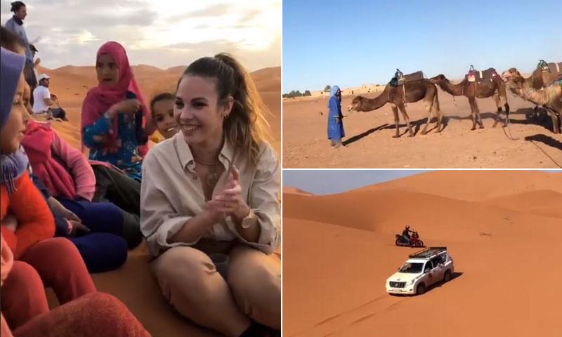 Noches en el desierto y bautizo en el rally solidario que ha llevado a Jessica Bueno hasta Marruecos