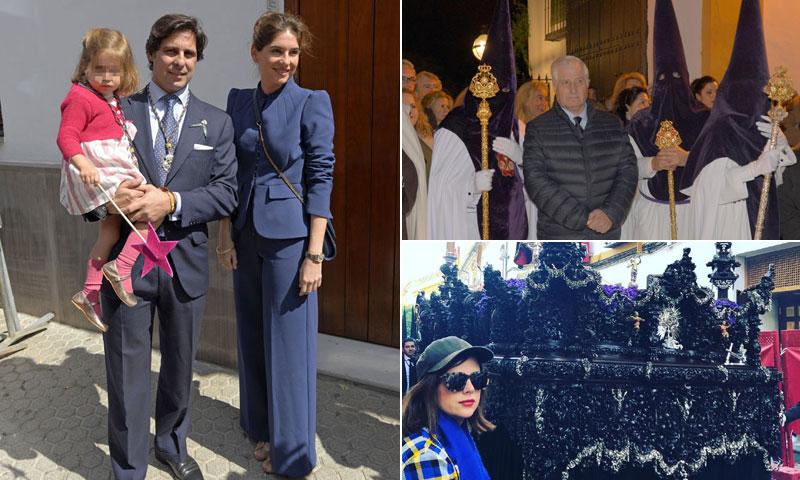 El Duque de Alba, Francisco Rivera y su familia y otros rostros conocidos disfrutan de la Semana Santa andaluza