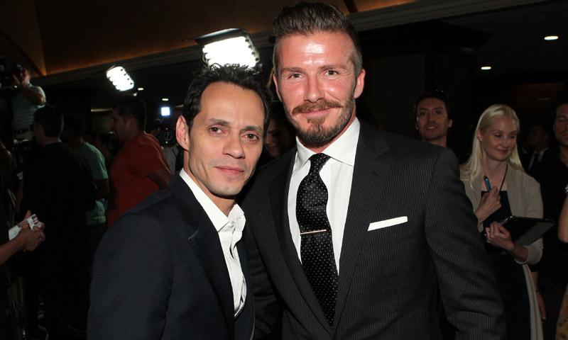 Primero Will Smith y ahora David Beckham: Marc Anthony, el compañero de fiestas y bailes que todos quieren