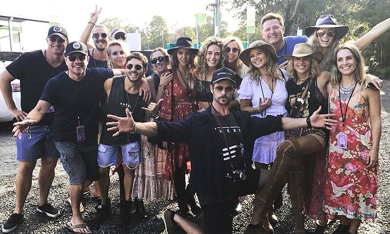 Elsa Pataky y Chris Hemsworth, los mejores anfitriones de Matt Damon y Luciana Barroso en Byron Bay