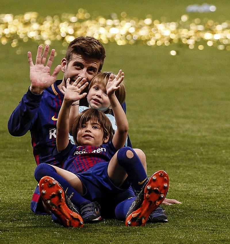 Copa Del Rey 2018 La Alegría De Los Futbolistas Del Barcelona Al
