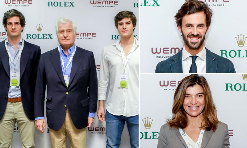 El Duque de Alba y sus hijos, el futbolista Achraf Hakimi, Enrique Solís... visitan el salón VIP de Rolex en el Mutua Madrid Open