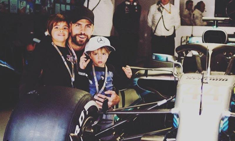 ¡Cuidado Hamilton! Milan, hijo de Shakira y Piqué, podría ser tu duro rival