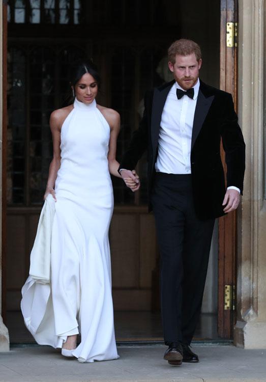 boda meghan markle y príncipe harry: el segundo vestido de la novia
