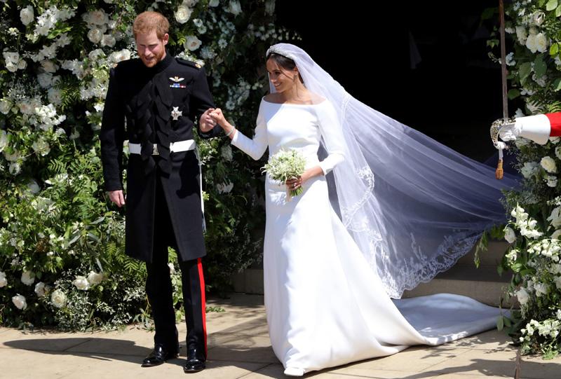 boda meghan markle y príncipe harry: el parecido entre el vestido de