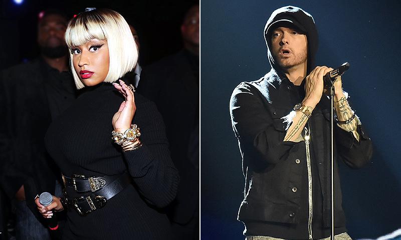 ¿Amor o música? Eminem y Nicki Minaj avivan los rumores de romance con sus mensajes en redes