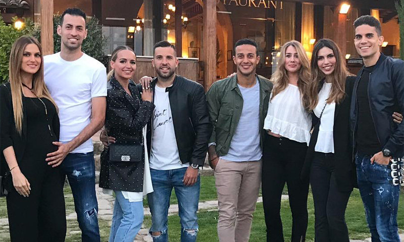 La escapada familiar de Jordi Alba, Sergio Busquets y Thiago Alcántara antes del Mundial