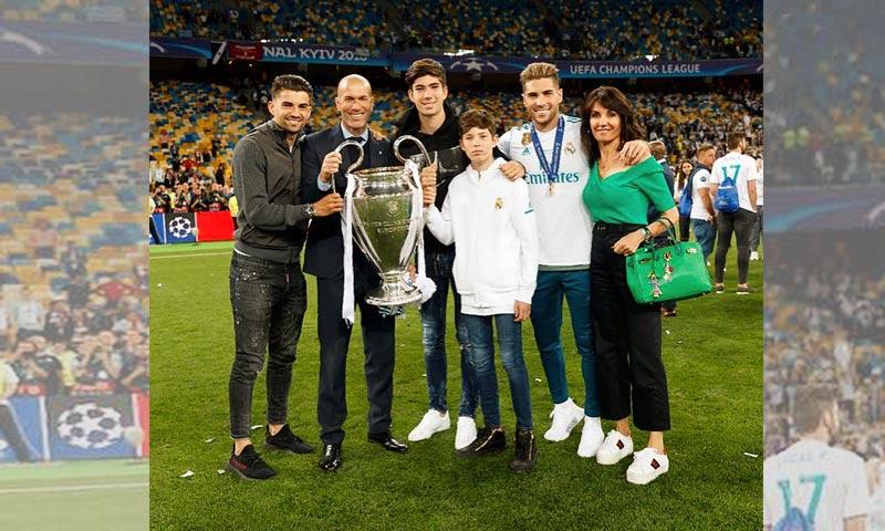 La familia de Zidane, siempre su gran apoyo