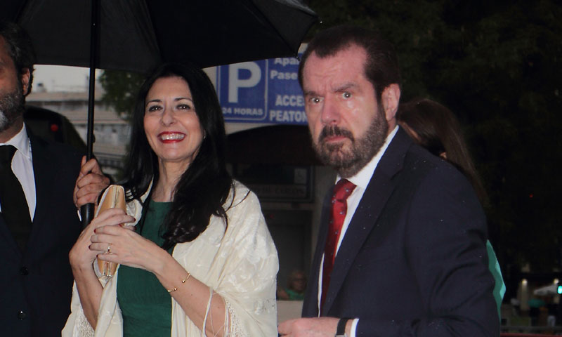 El padre de la Reina, Jesús Ortiz y su mujer, Ana Togores, de boda en La Maestranza