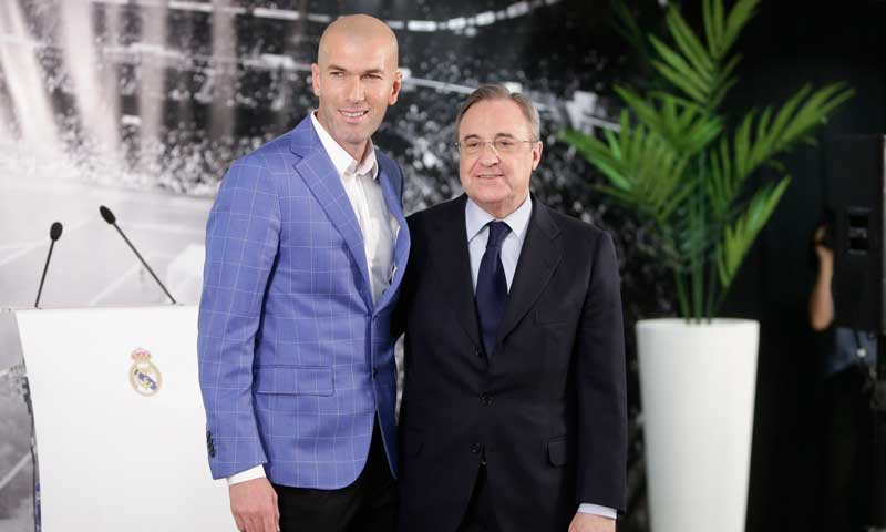 El guiño de la familia de Florentino Pérez a Zidane tras su marcha del Real Madrid