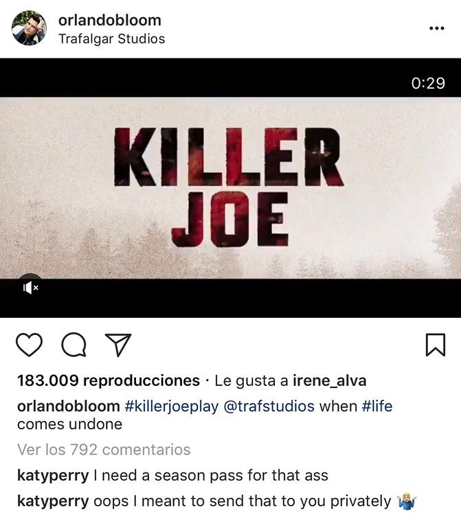 El mensaje privado para Orlando Bloom que se le escapó a Katy Perry en público