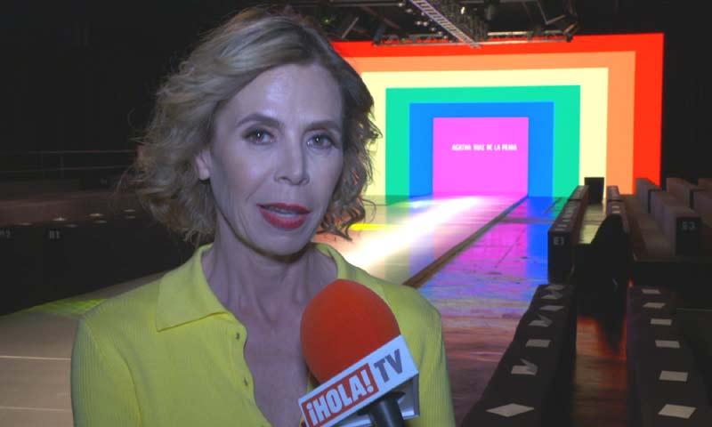 Ágatha Ruiz de la Prada habla con ¡HOLA! TV de Luis Miguel Rodríguez