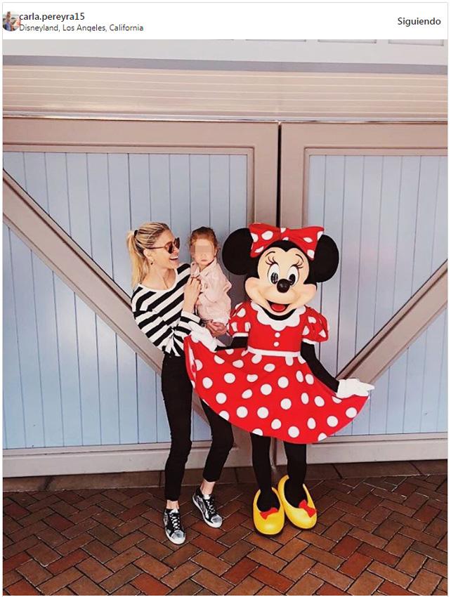 Carla Pereyra y Simeone se van de viaje al paraíso con su hija Francesca