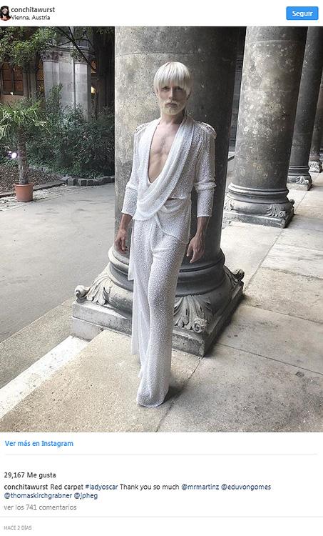 Conchita Wurst, irreconocible tras su cambio de look