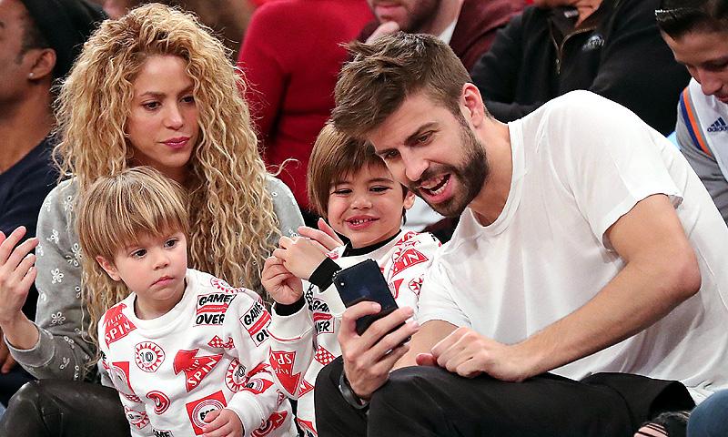 Los hijos de Shakira y Gerard Piqué también apoyan a la selección de Colombia