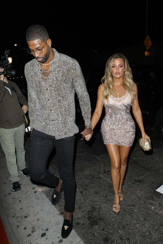 Khloé Kardashian con Tristan Thompson