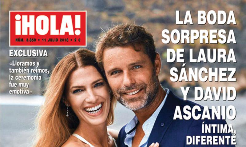Exclusiva en ¡HOLA! La boda sorpresa de Laura Sánchez y David Ascanio