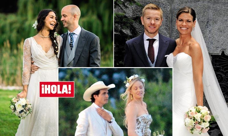 En ¡HOLA!, las bodas del verano: la famosa DJ Katy Sainz, el actor Julián González y el millonario Kimbal Musk