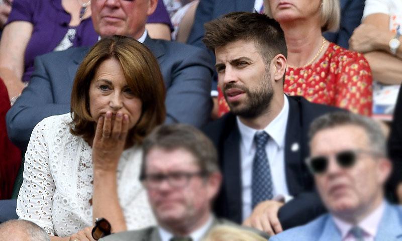 ¿Qué hacían juntos Gerard Piqué y la madre de la duquesa de Cambridge?