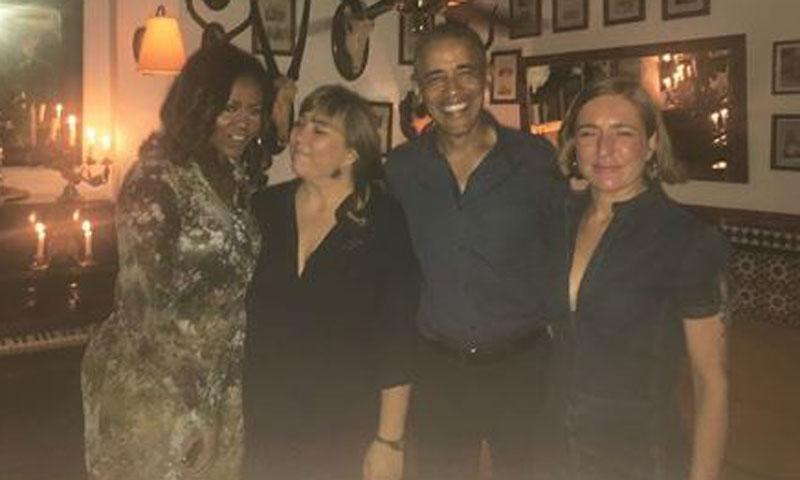 EXCLUSIVA: Una visita a El Escorial y una cena fusión ponen fin a la visita de la familia Obama en Madrid