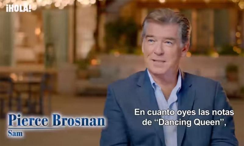 La divertida reacción de Pierce Brosnan al entonar 'Dancing Queen' de ABBA