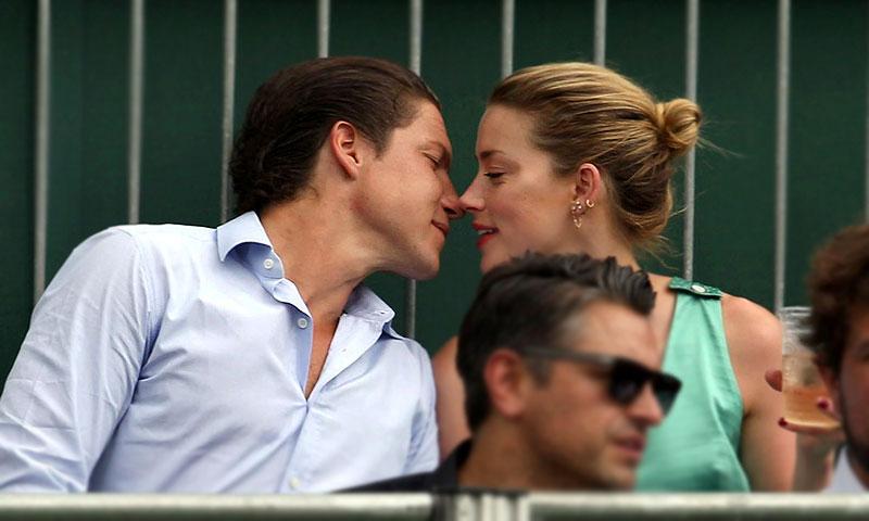 Amber Heard y Vito Schnabel confirman su relación en Wimbledon